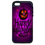 Happy Ghost Halloween Apple iPhone 5 Hardshell Case (PC+Silicone)