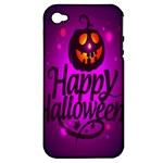 Happy Ghost Halloween Apple iPhone 4/4S Hardshell Case (PC+Silicone)