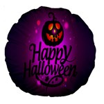 Happy Ghost Halloween Large 18  Premium Round Cushions