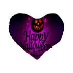 Happy Ghost Halloween Standard 16  Premium Heart Shape Cushions