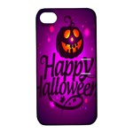 Happy Ghost Halloween Apple iPhone 4/4S Hardshell Case with Stand