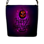 Happy Ghost Halloween Flap Messenger Bag (L)