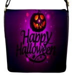 Happy Ghost Halloween Flap Messenger Bag (S)
