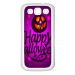 Happy Ghost Halloween Samsung Galaxy S3 Back Case (White)