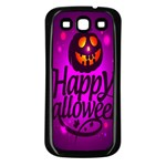 Happy Ghost Halloween Samsung Galaxy S3 Back Case (Black)
