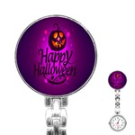 Happy Ghost Halloween Stainless Steel Nurses Watch