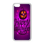 Happy Ghost Halloween Apple iPhone 5C Seamless Case (White)