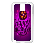 Happy Ghost Halloween Samsung Galaxy Note 3 N9005 Case (White)