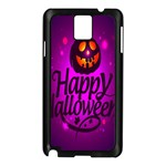 Happy Ghost Halloween Samsung Galaxy Note 3 N9005 Case (Black)
