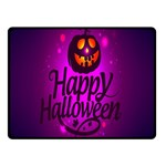 Happy Ghost Halloween Double Sided Fleece Blanket (Small)