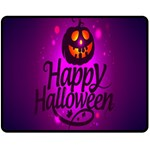 Happy Ghost Halloween Double Sided Fleece Blanket (Medium)