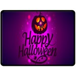Happy Ghost Halloween Double Sided Fleece Blanket (Large)