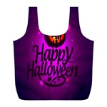 Happy Ghost Halloween Full Print Recycle Bags (L)