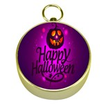 Happy Ghost Halloween Gold Compasses