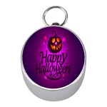 Happy Ghost Halloween Mini Silver Compasses