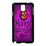 Happy Ghost Halloween Samsung Galaxy Note 3 Neo Hardshell Case (Black)