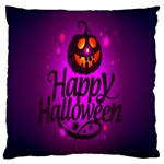 Happy Ghost Halloween Large Flano Cushion Case (One Side)
