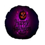 Happy Ghost Halloween Standard 15  Premium Flano Round Cushions