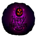 Happy Ghost Halloween Large 18  Premium Flano Round Cushions