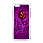 Happy Ghost Halloween Apple iPhone 6/6S White Enamel Case