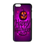 Happy Ghost Halloween Apple iPhone 6/6S Black Enamel Case