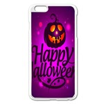 Happy Ghost Halloween Apple iPhone 6 Plus/6S Plus Enamel White Case