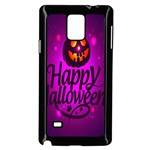 Happy Ghost Halloween Samsung Galaxy Note 4 Case (Black)