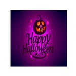 Happy Ghost Halloween Small Satin Scarf (Square)