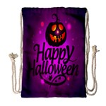 Happy Ghost Halloween Drawstring Bag (Large)