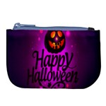 Happy Ghost Halloween Large Coin Purse