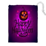 Happy Ghost Halloween Drawstring Pouches (XXL)