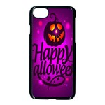 Happy Ghost Halloween Apple iPhone 7 Seamless Case (Black)