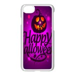 Happy Ghost Halloween Apple iPhone 7 Seamless Case (White)