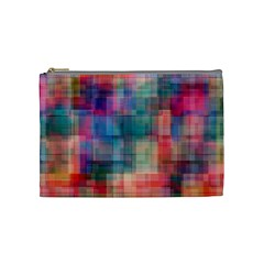 Rainbow Prism Plaid  Cosmetic Bag (medium)  by KirstenStar