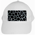 SKIN1 BLACK MARBLE & ICE CRYSTALS White Cap