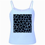 SKIN1 BLACK MARBLE & ICE CRYSTALS Baby Blue Spaghetti Tank
