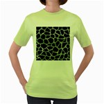SKIN1 BLACK MARBLE & ICE CRYSTALS Women s Green T-Shirt