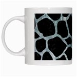 SKIN1 BLACK MARBLE & ICE CRYSTALS White Mugs