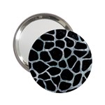 SKIN1 BLACK MARBLE & ICE CRYSTALS 2.25  Handbag Mirrors