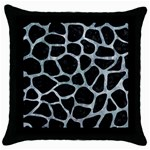 SKIN1 BLACK MARBLE & ICE CRYSTALS Throw Pillow Case (Black)