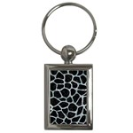 SKIN1 BLACK MARBLE & ICE CRYSTALS Key Chains (Rectangle)