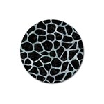 SKIN1 BLACK MARBLE & ICE CRYSTALS Magnet 3  (Round)