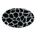 SKIN1 BLACK MARBLE & ICE CRYSTALS Oval Magnet
