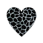 SKIN1 BLACK MARBLE & ICE CRYSTALS Heart Magnet