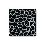 SKIN1 BLACK MARBLE & ICE CRYSTALS Square Magnet