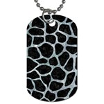 SKIN1 BLACK MARBLE & ICE CRYSTALS Dog Tag (Two Sides)