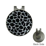 SKIN1 BLACK MARBLE & ICE CRYSTALS Hat Clips with Golf Markers