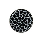 SKIN1 BLACK MARBLE & ICE CRYSTALS Hat Clip Ball Marker (4 pack)