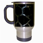 SKIN1 BLACK MARBLE & ICE CRYSTALS Travel Mug (Silver Gray)