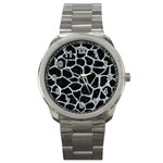SKIN1 BLACK MARBLE & ICE CRYSTALS Sport Metal Watch